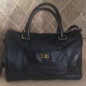J. Crew Black Leather Brompton Mini Hobo Bag